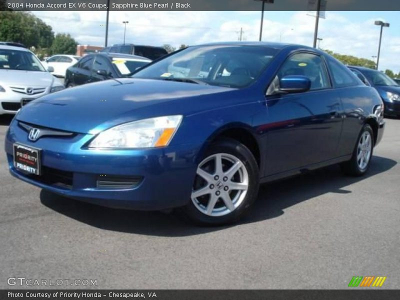 2004 honda accord ex v6 coupe in sapphire blue pearl photo no 19115916. Black Bedroom Furniture Sets. Home Design Ideas