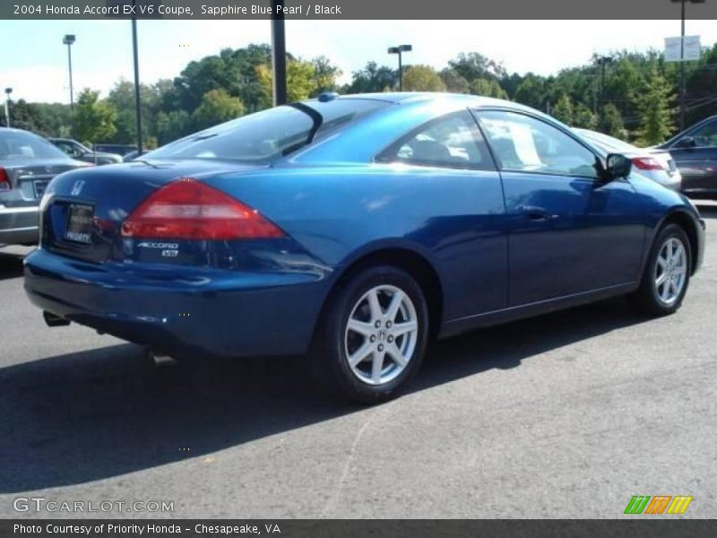 2004 honda accord ex v6 coupe in sapphire blue pearl photo. Black Bedroom Furniture Sets. Home Design Ideas