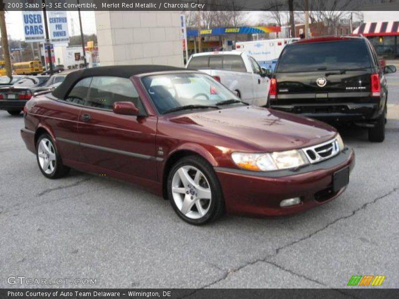 2003 saab 9 3 se convertible in merlot red metallic photo no 1920808. Black Bedroom Furniture Sets. Home Design Ideas