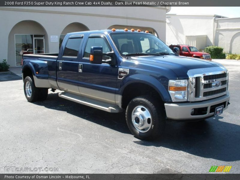 2008 ford f350 super duty king ranch crew cab 4x4 dually in dark blue pearl metallic photo no. Black Bedroom Furniture Sets. Home Design Ideas