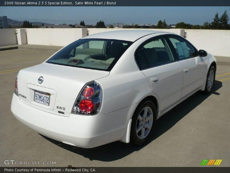 2006 nissan altima 2 5 s special edition in satin white. Black Bedroom Furniture Sets. Home Design Ideas