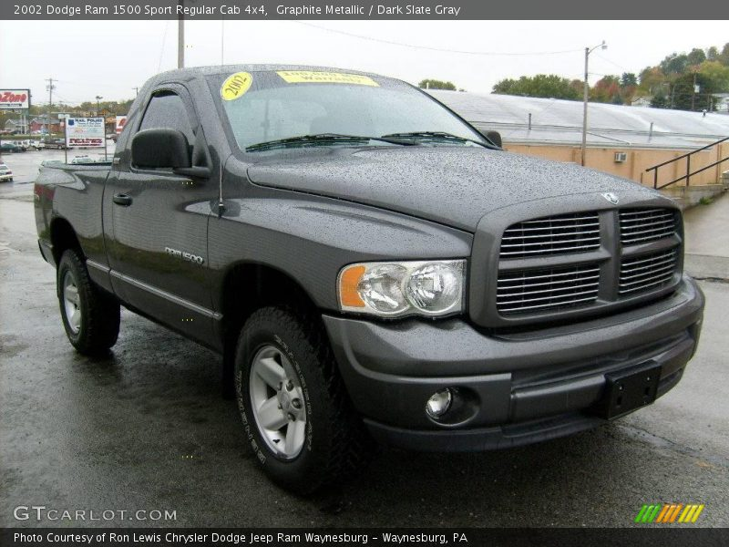2002 dodge ram 1500 sport regular cab 4x4 in graphite metallic photo no 19779758. Black Bedroom Furniture Sets. Home Design Ideas