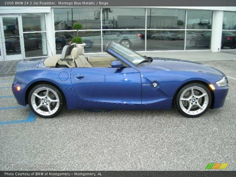2006 Bmw Z4 3 0si Roadster In Montego Blue Metallic Photo