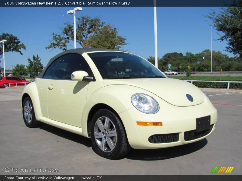 To This Sunflower Yellow 2006 Volkswagen New Beetle 2 5 Convertible