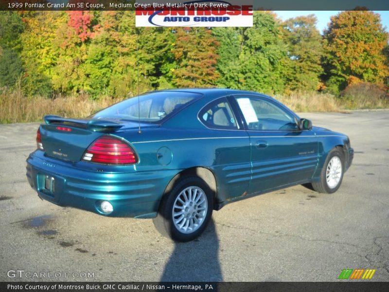 1999 pontiac grand am se coupe in medium green blue metallic photo no 20024458. Black Bedroom Furniture Sets. Home Design Ideas