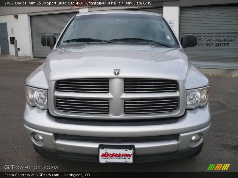 2002 dodge ram 1500 sport quad cab 4x4 in bright silver metallic photo no 2013613. Black Bedroom Furniture Sets. Home Design Ideas