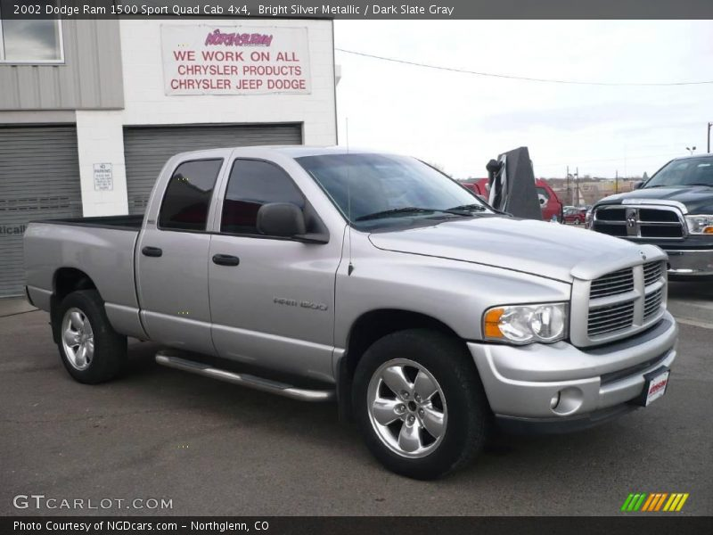 2002 dodge ram 1500 sport quad cab 4x4 in bright silver metallic photo no 2013623. Black Bedroom Furniture Sets. Home Design Ideas