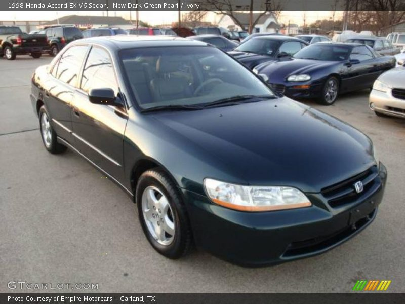 New Dark Green Pearl / Ivory 1998 Honda Accord EX V6 Sedan