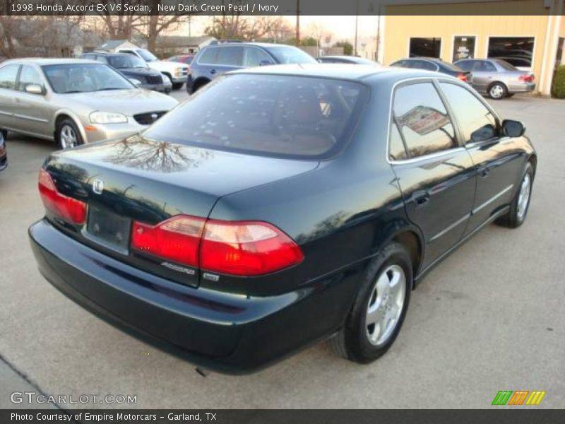 New Dark Green Pearl / Ivory 1998 Honda Accord EX V6 Sedan
