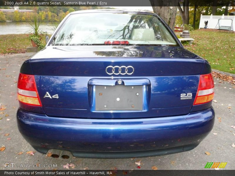 2000 audi a4 2 8 quattro sedan in santorin blue pearl. Black Bedroom Furniture Sets. Home Design Ideas