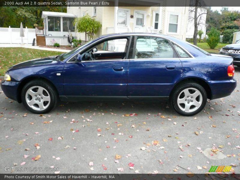2000 audi a4 2 8 quattro sedan in santorin blue pearl. Black Bedroom Furniture Sets. Home Design Ideas