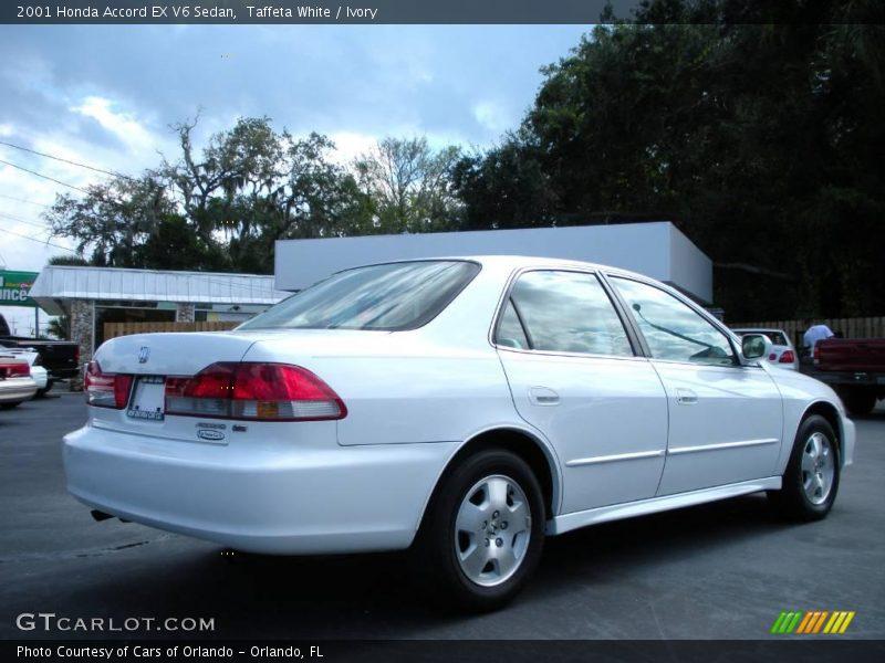 2001 honda accord ex v6 sedan in taffeta white photo no 20479129. Black Bedroom Furniture Sets. Home Design Ideas