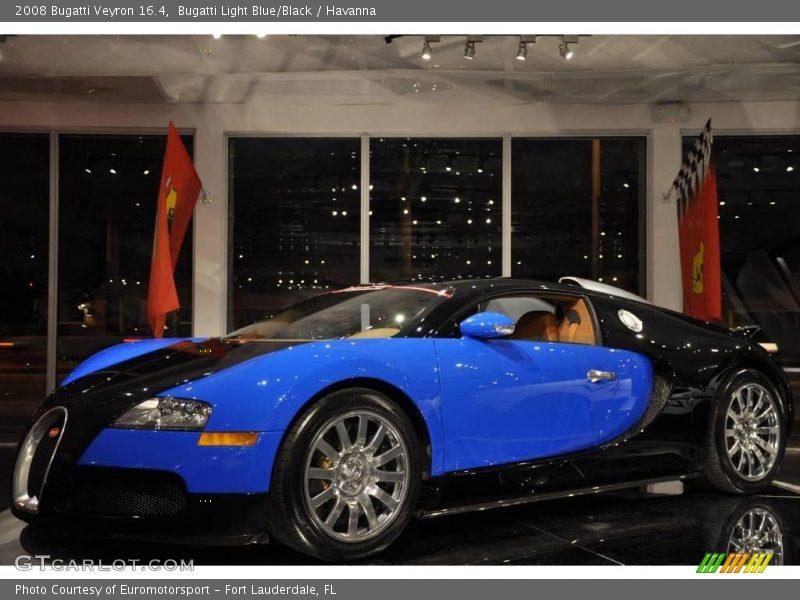 Bugatti Light Blue/Black / Havanna 2008 Bugatti Veyron 16.4