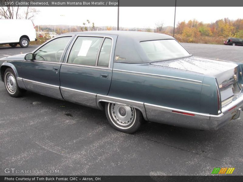 medium montana blue metallic beige 1995 cadillac fleetwood photo 4. Cars Review. Best American Auto & Cars Review