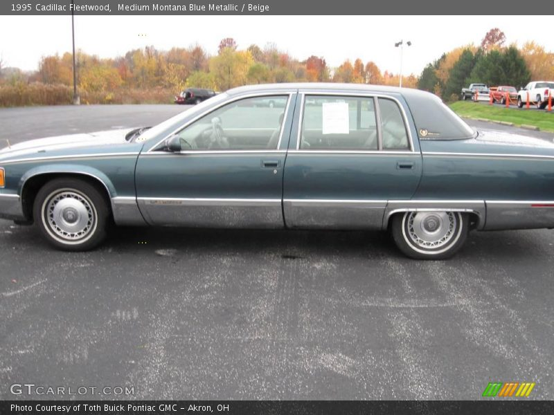 medium montana blue metallic beige 1995 cadillac fleetwood photo 5. Cars Review. Best American Auto & Cars Review