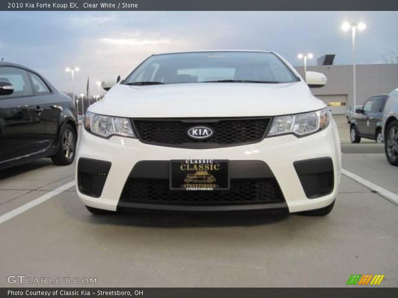 2010 kia forte koup ex in clear white photo no 20934348. Black Bedroom Furniture Sets. Home Design Ideas
