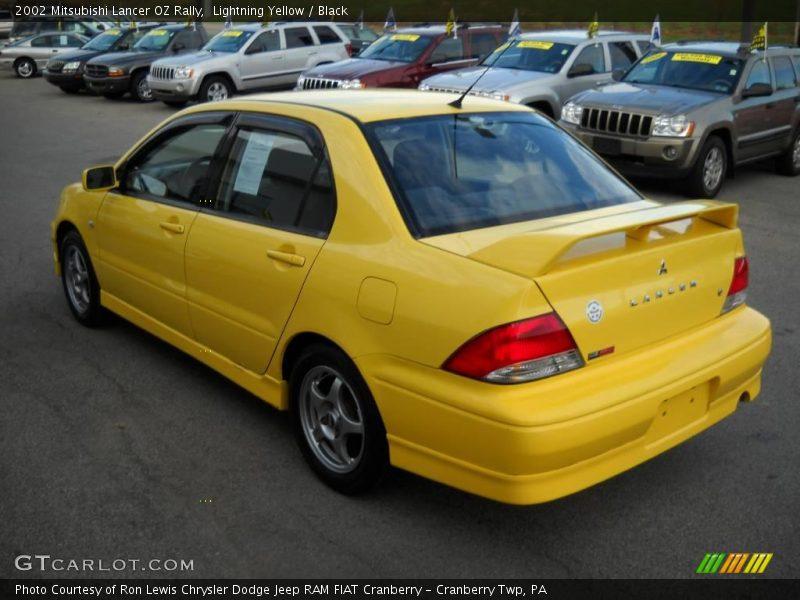 2002 mitsubishi lancer oz rally in lightning yellow photo no 21020938. Black Bedroom Furniture Sets. Home Design Ideas