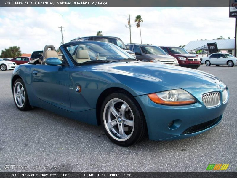 2003 Bmw Z4 3 0i Roadster In Maldives Blue Metallic Photo