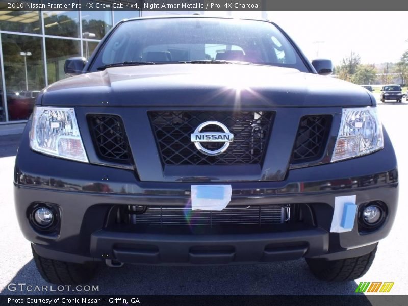 2010 nissan frontier pro 4x crew cab 4x4 in night armor metallic photo no 21259131. Black Bedroom Furniture Sets. Home Design Ideas