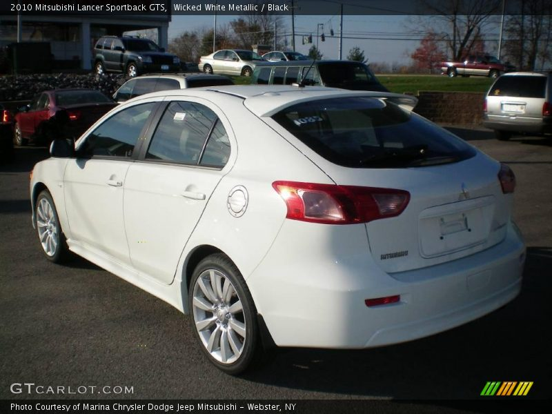 2010 mitsubishi lancer sportback gts in wicked white. Black Bedroom Furniture Sets. Home Design Ideas
