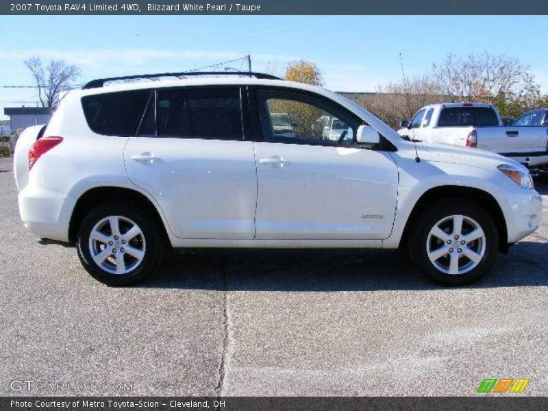 2007 toyota rav4 limited 4wd in blizzard white pearl photo. Black Bedroom Furniture Sets. Home Design Ideas