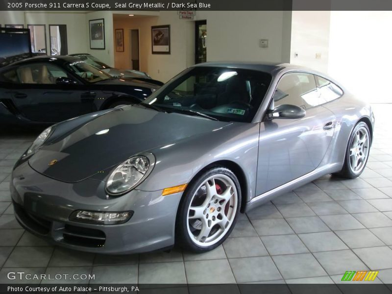 Seal Grey Metallic / Dark Sea Blue 2005 Porsche 911 Carrera S Coupe