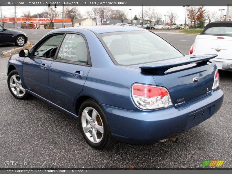 2007 Subaru Impreza 2 5i Sedan In Newport Blue Pearl Photo