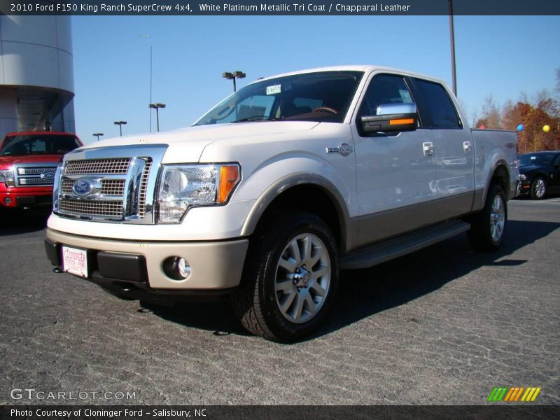 White Platinum Metallic Tri Coat / Chapparal Leather 2010 Ford F150 King Ranch SuperCrew 4x4