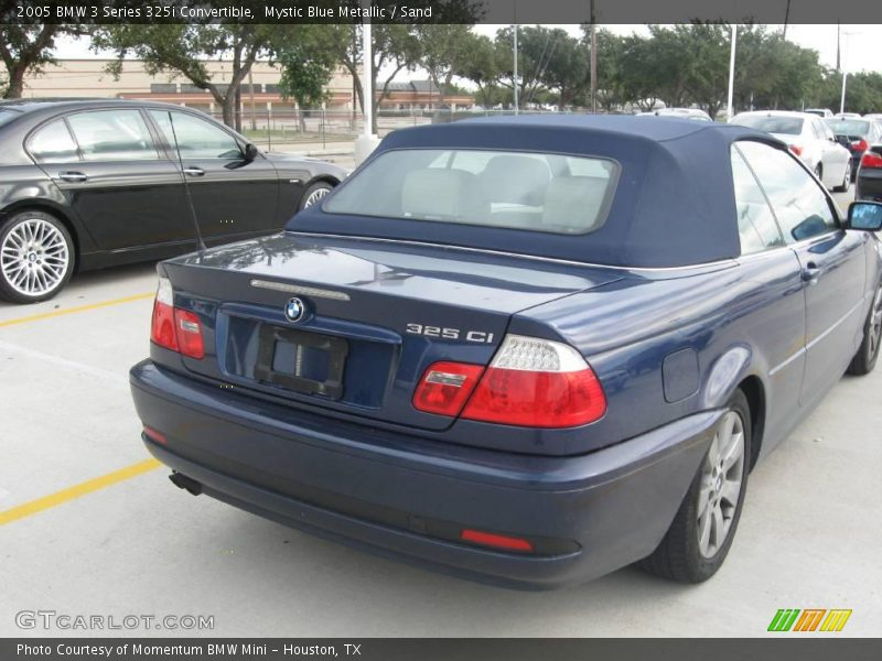 Mystic Blue Metallic / Sand 2005 BMW 3 Series 325i Convertible