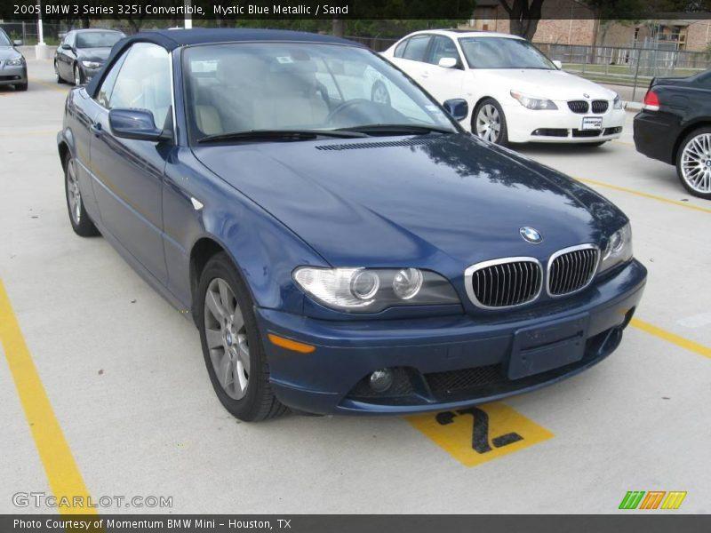 Mystic Blue Metallic / Sand 2005 BMW 3 Series 325i Convertible