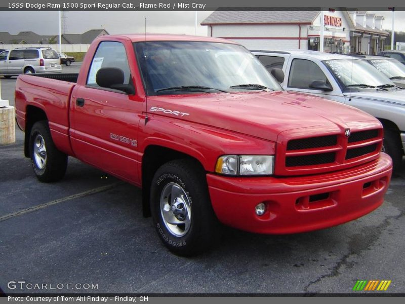 1999 dodge ram 1500 sport regular cab in flame red photo no 22707386. Black Bedroom Furniture Sets. Home Design Ideas