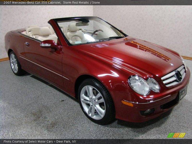 2007 mercedes benz clk 350 cabriolet in storm red metallic for 2007 mercedes benz clk