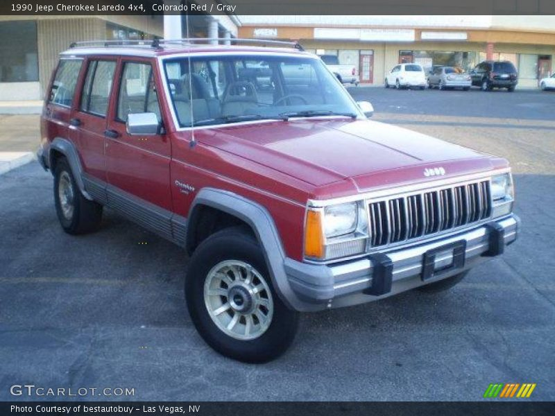 1990 jeep cherokee laredo 4x4 in colorado red photo no 23636428. Black Bedroom Furniture Sets. Home Design Ideas