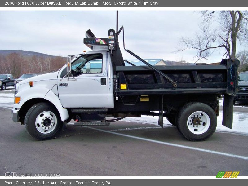 Ford F650 Super Truck >> 2006 Ford F650 Super Duty XLT Regular Cab Dump Truck in Oxford White Photo No. 24026441 ...