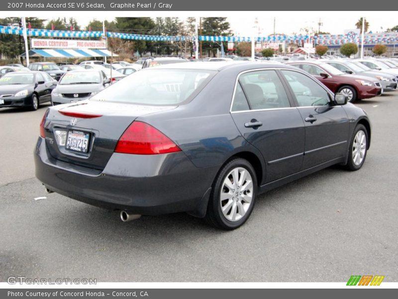 2007 honda accord se v6 sedan in graphite pearl photo no 24240482. Black Bedroom Furniture Sets. Home Design Ideas