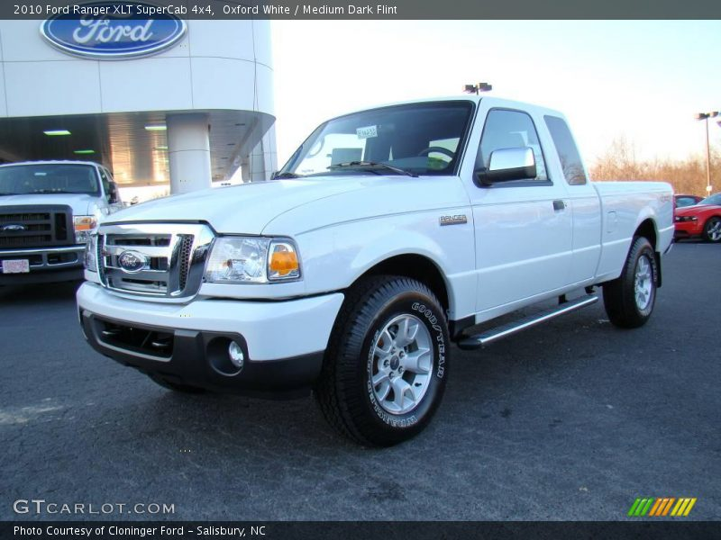 2010 Ford Ranger Xlt Supercab 4x4 In Oxford White Photo No