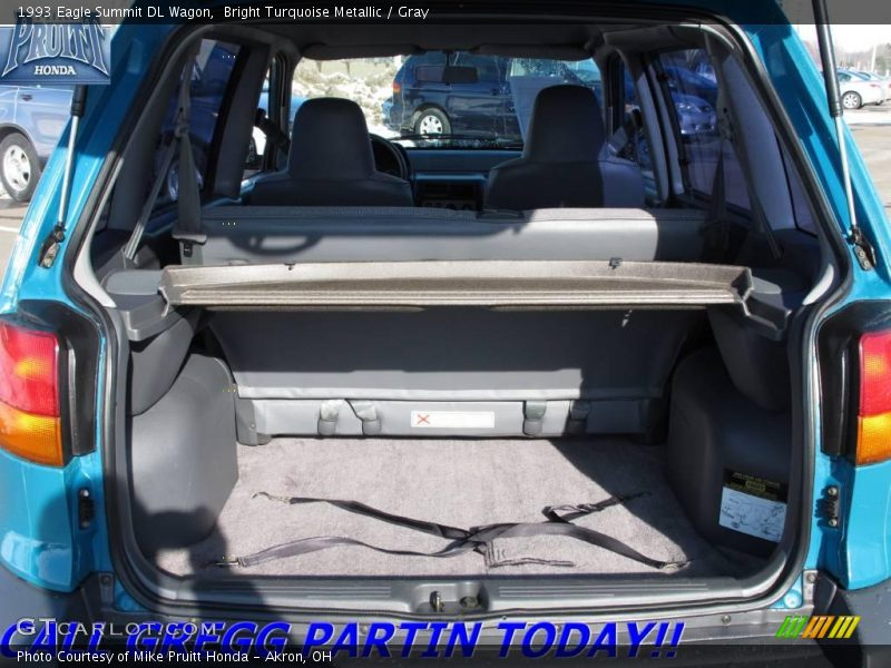 Bright Turquoise Metallic / Gray 1993 Eagle Summit DL Wagon