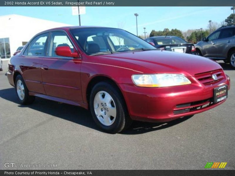 2002 honda accord ex v6 sedan in firepepper red pearl photo no 24877030. Black Bedroom Furniture Sets. Home Design Ideas
