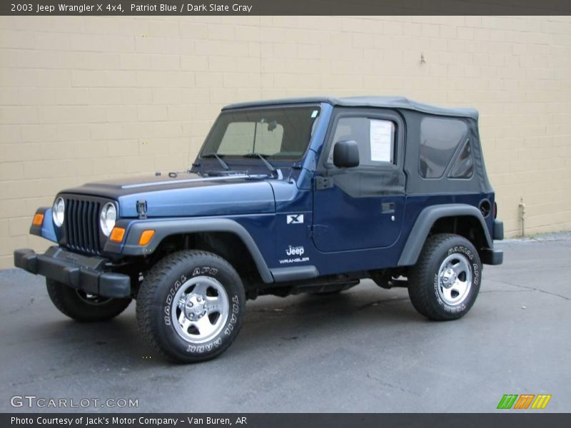 2003 jeep wrangler x 4x4 in patriot blue photo no 24887952. Black Bedroom Furniture Sets. Home Design Ideas