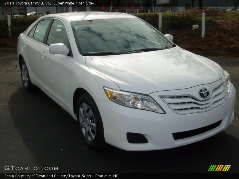 2010 toyota camry le v6 in super white photo no 25411628. Black Bedroom Furniture Sets. Home Design Ideas