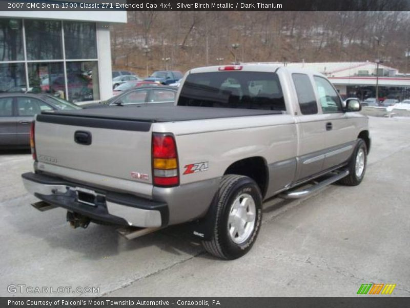 2007 gmc sierra 1500 classic z71 extended cab 4x4 in silver birch metallic photo no 25513381. Black Bedroom Furniture Sets. Home Design Ideas