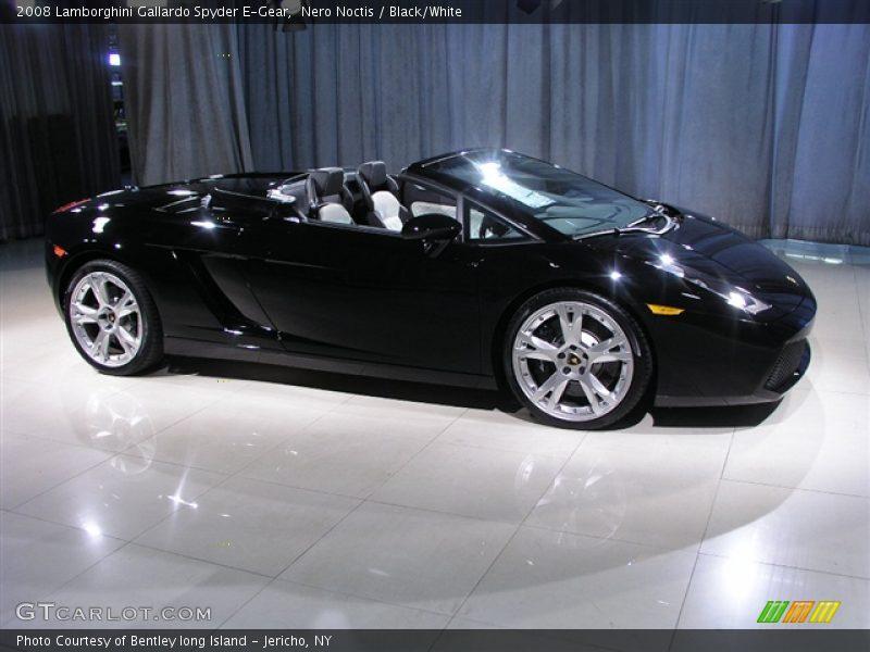 Nero Noctis / Black/White 2008 Lamborghini Gallardo Spyder E-Gear