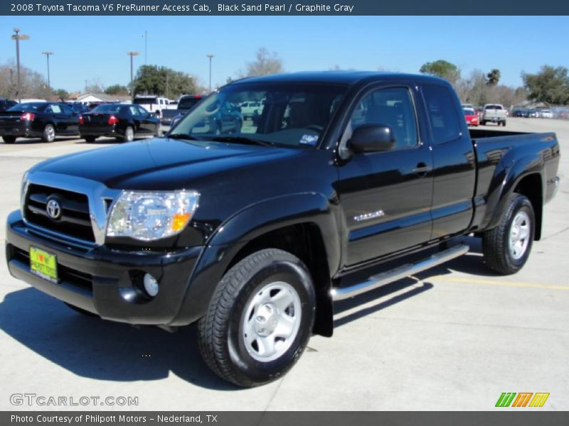 2008 toyota tacoma v6 prerunner access cab in black sand pearl photo no 25925761. Black Bedroom Furniture Sets. Home Design Ideas