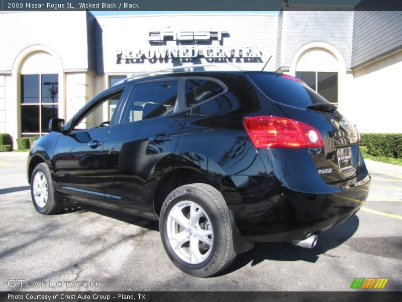 2009 nissan rogue sl in wicked black photo no 26089248. Black Bedroom Furniture Sets. Home Design Ideas
