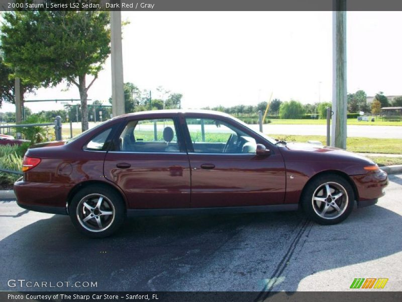 Dark Red / Gray 2000 Saturn L Series LS2 Sedan