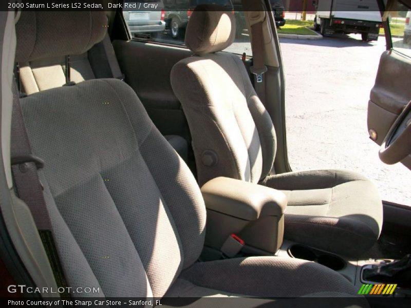 Dark Red / Gray 2000 Saturn L Series LS2 Sedan