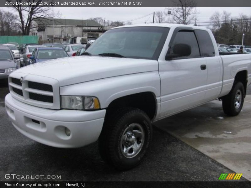 2000 dodge ram 1500 sport extended cab 4x4 in bright white photo no 26420980. Black Bedroom Furniture Sets. Home Design Ideas