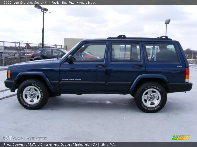 2000 jeep cherokee sport 4x4 in patriot blue pearl photo no 26426498. Cars Review. Best American Auto & Cars Review