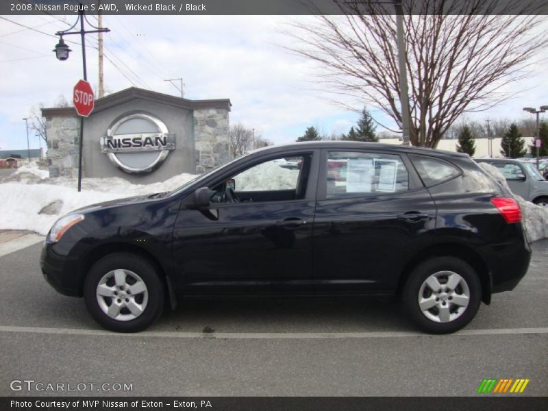 2008 nissan rogue s awd in wicked black photo no 26494758 gtcarlot