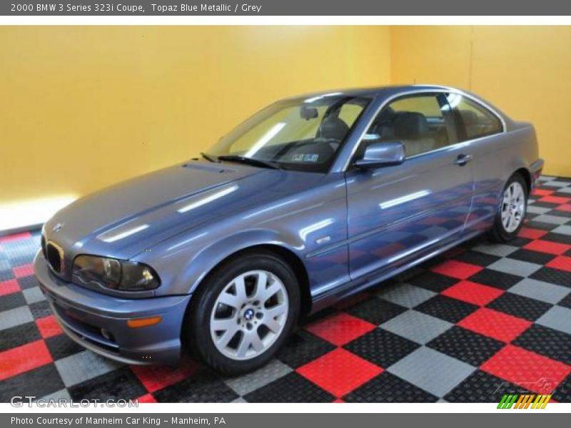 Topaz Blue Metallic / Grey 2000 BMW 3 Series 323i Coupe